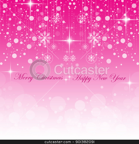 Happy New Year & Merry Christmas stock vector clipart, Beautiful background of Happy New Year & Merry Christmas by Ingvar Bjork