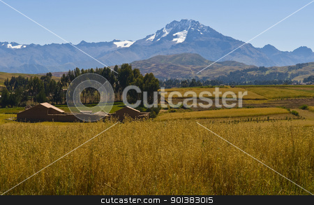 The Sacred valley stock photo, view of the Sacred valley in the Peruvian Andes by Kobby Dagan