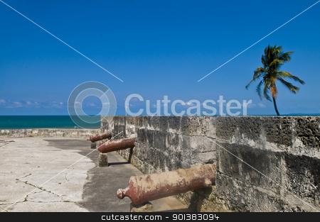 San Felipe de Barajas castle stock photo, San Felipe de Barajas casle in