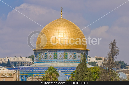 Dome of the rock stock photo, Dome of the rock in the old city of jerusalem , Israel by Kobby Dagan
