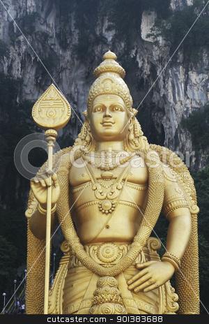 Giant statue of Lord Murugan at Batu Caves temple in Kuala Lumpur, Malaysia. stock photo, Giant statue of Lord Murugan at Batu Caves temple in Kuala Lumpur, Malaysia. by Haider Azim
