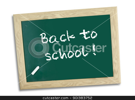 back to school on chalk board stock photo, back to school on chalk board by Haider Azim