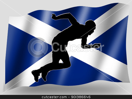 Country Flag Sport Icon Silhouette Scottish Athletics stock photo, Country Flag Sport Icon Silhouette Series  Scottish Athletics by Snap2Art