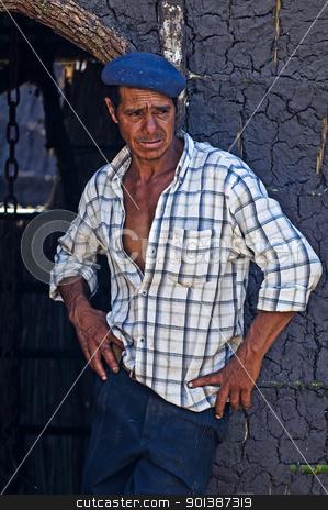 Gaucho festival stock photo, TACUAREMBO, URUGUAY - MAR 5 : Participant in the annual festival