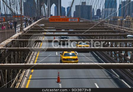 Brooklyn bridge stock photo, NEW YORK - JUNE 30 2011 :The Brooklyn bridge in New York city by Kobby Dagan