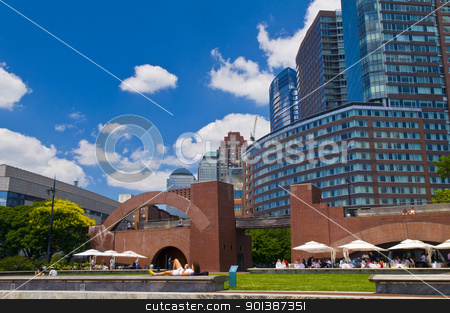 Building in New York stock photo, NEW YORK - JUNE 30 2011:  An apartmant buildings in New York city by Kobby Dagan