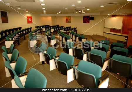 Conference room stock photo, The perspective view of a conference room by Tito Wong