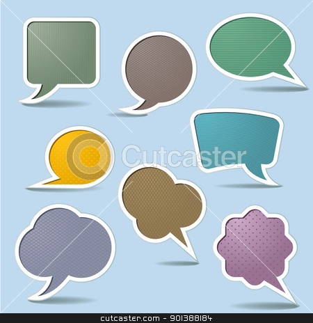 Collection Speech Bubbles stock photo, Collection Speech Bubbles, Isolated On White Background by dvarg