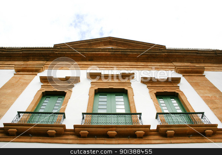 Historic building in Parati stock photo, Building in the famous, unesco protected town of Parati, State of Rio de Janeiro. by Michael Osterrieder