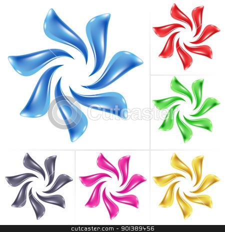 Flower icon stock photo, Flower icon. Vector illustration set on white background by dvarg