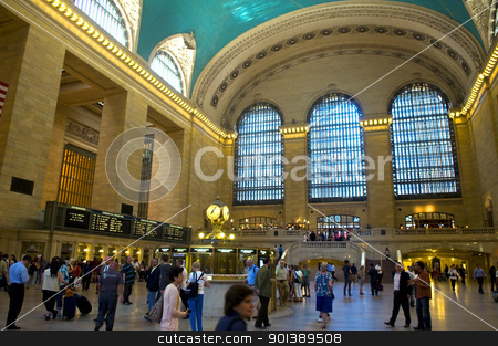 Grand central station stock photo, NEW YORK -  JUNE 27 2011 : Indoor shot of the Grand central railway station in Manhattan by Kobby Dagan