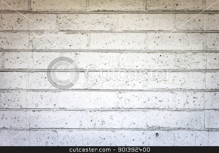 Gray wall stock photo, Gray background wall with detailed texture bricks by Henrik Lehnerer
