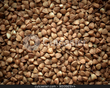 Buckwheat texture background closeup. stock photo, Buckwheat texture background closeup. by pashabo