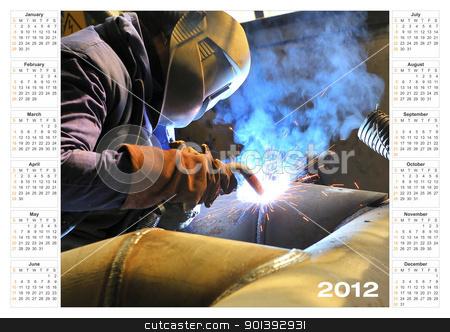 calendar 2012 Industrial stock photo, calendar 2012 Industrial by jordachelr