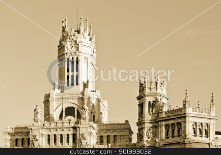 Central Post Office (Palacio de Comunicaciones), Madrid, Spain.  stock photo,  by pifate