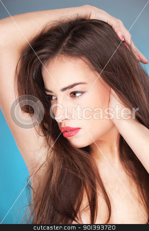 Portrait of a pretty young woman stock photo, Portrait of a pretty young woman by iMarin