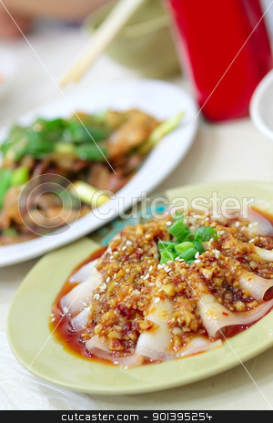 Sliced Boiled Pork with Garlic Sauce stock photo, Sliced Boiled Pork with Garlic Sauce, Sichuan Cuisine by Keng po Leung