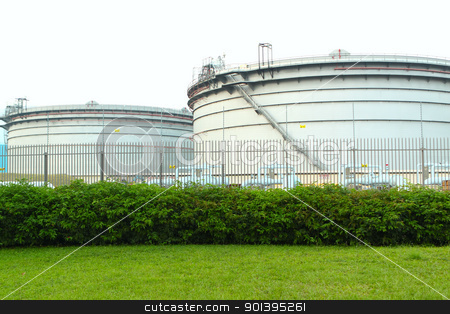 gas tanks in the industrial estate, suspension energy for transp stock photo, gas tanks in the industrial estate, suspension energy for transportation and household use  by Keng po Leung
