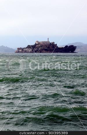 Alcatraz stock photo, The island Alcatraz with the prison in the San Francisco bay. by Henrik Lehnerer