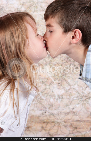 Boy and girl kissing stock photo boy and girl kissing altavistaventures Images