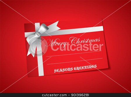 Merry christmas card stock vector clipart, Blank christmas tag with room for name and greetings by Michael Travers