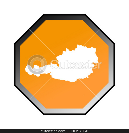 Austria road sign stock photo, Austria road sign isolated on a white background. by Martin Crowdy