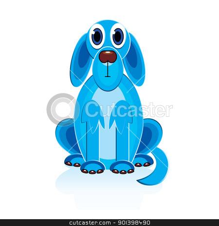Cartoon Blue Dog stock photo, Cartoon Blue Dog. Illustration on white background for design  by dvarg