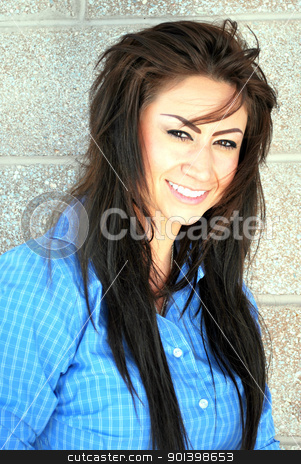 Dark exotic female beauty. stock photo, Dark exotic female beauty posing outdoors. by OSCAR Williams