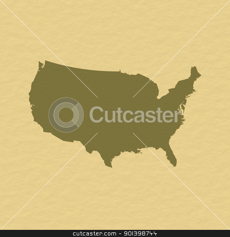 Map of the United States stock photo, Political map of the United States with the several states. by Schwabenblitz