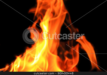 Picture with red flame on the black background stock photo, Image with red flame on the black background by Julialine