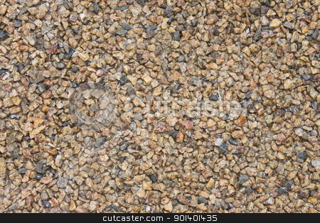 Beige Gravel stock photo, beige gravel small stones on the floor by Henrik Lehnerer