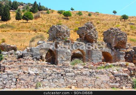 Ruins of the Roman bat stock photo, Ruins of the Roman baths in a city the Efes, Turkey by Artamonov Yury
