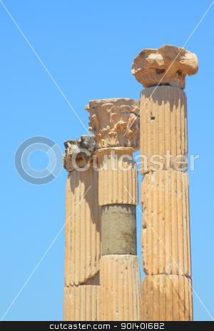 Antique columns stock photo, Antique columns in a city in the Efes, Turkey by Artamonov Yury