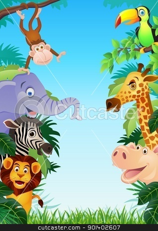 Animal cartoon stock vector clipart, Vector illustration of animal cartoon by Surya Zaidan