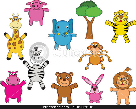 Animal cartoon collection stock vector clipart, Animal cartoon collection by Surya Zaidan