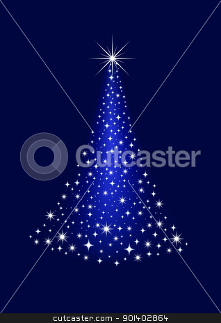 Christmas tree stock vector clipart, Vector illustration of Christmas tree by Surya Zaidan