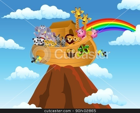 Noah Ark stock vector clipart, Vector illustration of Noah ark by Surya Zaidan