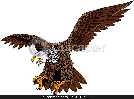 Eagle stock vector clipart, Vector illustration of detailed eagle by Surya Zaidan