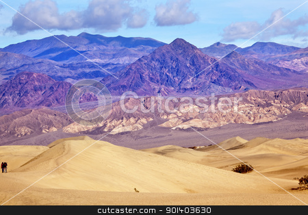 Mesquite Flat Dunes Grapevine Mountains Death Valley National Pa stock photo, Hiking Mesquite Flat Dunes Grapevine Mountains Death Valley National Park California by William Perry