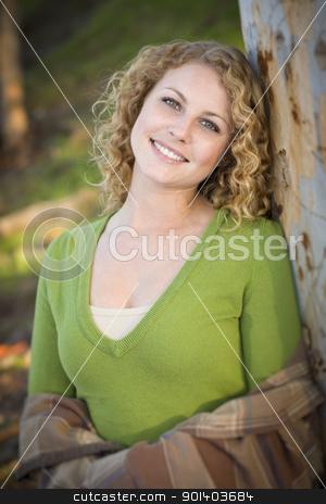 Pretty Young Smiling Woman Portrait stock photo, Pretty Young Smiling Woman Outdoor Portrait. by Andy Dean