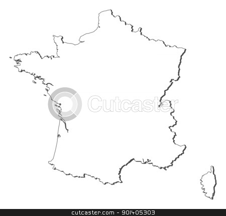 Map of France stock vector clipart, Political map of France with the several regions. by Schwabenblitz