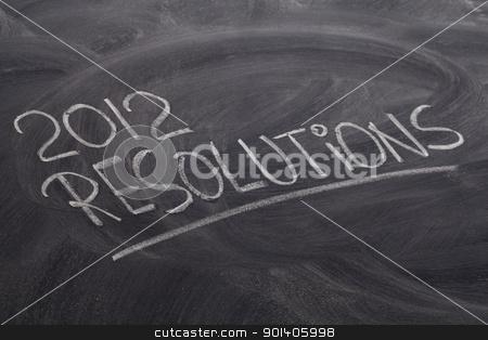 2012 resolutions on blackboard stock photo, 2012 resolutions - white chalk handwriting on blackboard by Marek Uliasz