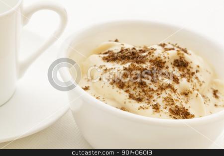 chia seeds on yougurt stock photo, ground chia seeds sprinkled on yogurt - healthy breakfast concept by Marek Uliasz