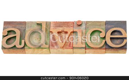 advice word in letterpress type stock photo, advice - isolated word in vintage wood letterpress printing blocks by Marek Uliasz
