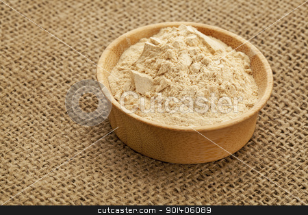 maca root powder stock photo, maca root powder (nutrition supplement - superfood from Andies) in a wood bowl by Marek Uliasz