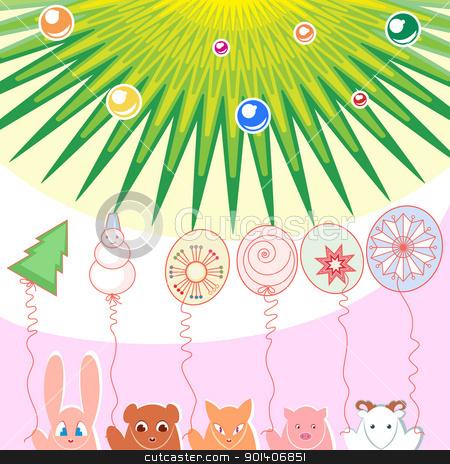 New Year background stock photo, New Year background of balloons illustration designer toys by dvarg