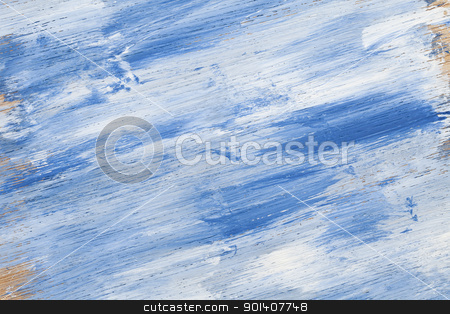 blue white wood texture stock photo, blue and white abstract with wood texture - acrylic paint on rough and grunge plywood by Marek Uliasz