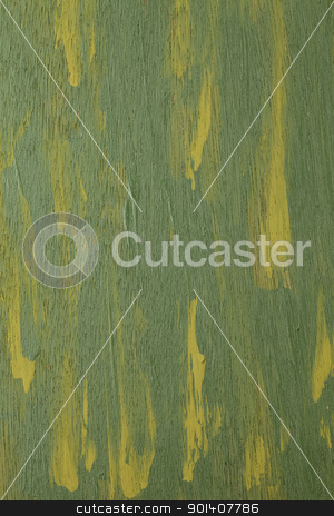 green abstract painted  on wood stock photo, green and yellow  abstract with wood texture - acrylic paint on rough and grunge plywood by Marek Uliasz