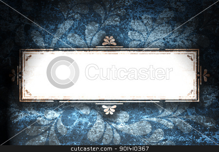 Rectangular frame with curls on grunge background. stock photo, Rectangular frame with curls on grunge background. by Borys Shevchuk