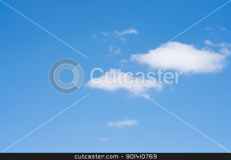 Blue sky with white small clouds. stock photo, Blue sky with white small clouds. by Borys Shevchuk